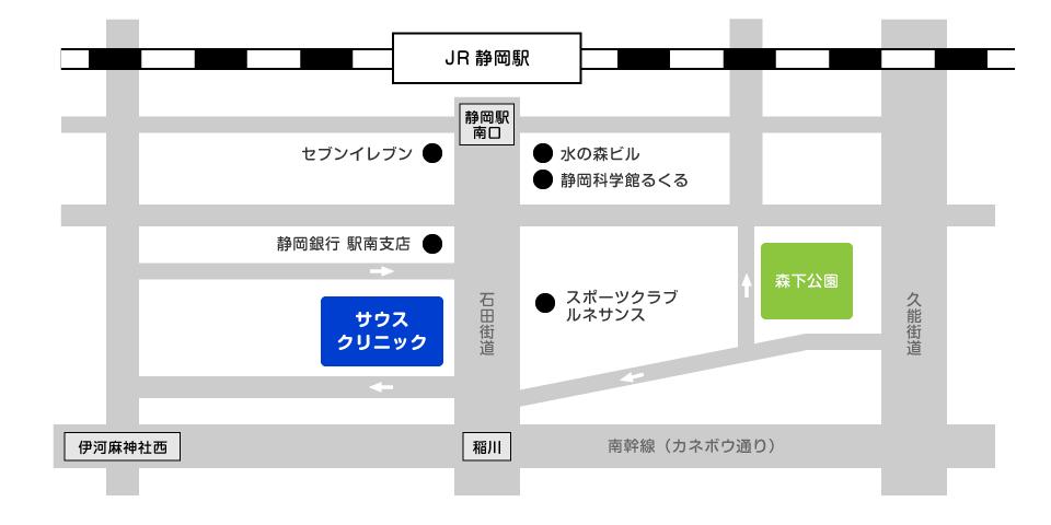 敬天堂歯科 サウスクリニック アクセスマップ